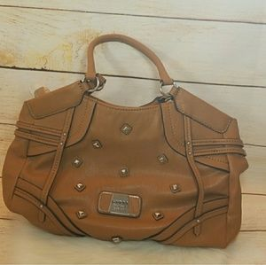 NWOT Guess shoulder bag light tan brown gorgeous